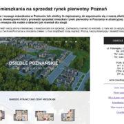 Nowe i tanie mieszkania na sprzedaż rynek pierwotny Poznań